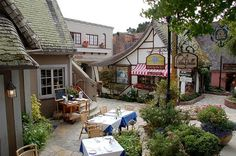 Patio of PortaBella Restaurant in Carmel, California - have eaten there several times - it is wonderful!