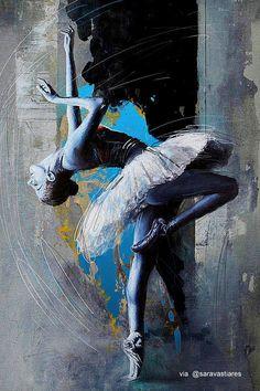 Oil painting of a ballerina by Artist Mahnoor Shah Ballet Painting, Dance Paintings, Ballet Art, Ballet Dancers, Ballerinas, Painting Art, Ballerina Kunst, Fine Art Amerika, Belle Photo