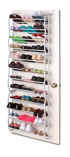 36 Pair Over The Door Shoe Rack