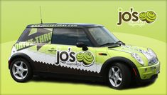 Jo's Cupcakes vehicle wrap.