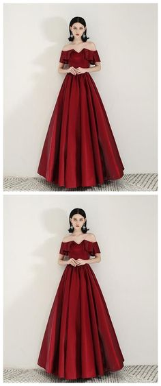 Simple sweetheart satin burgundy long prom dress evening dress by olesaweddingdresses, $124.52 USD Evening Dresses, Prom Dresses, Formal Dresses, Wedding Veil, Burgundy, Dress Shoes, How Are You Feeling, Satin, Gowns