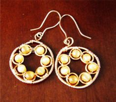 Round Earrings and Necklace Pattern