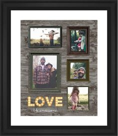 Photo Real Love Framed Print, Black, Classic, None, White, Single piece, 16 x 20 inches, Brown