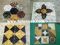 Polished Pebble Mosaic & Pebble Tile & Stone Mosaic & Pebble Mat & Stone Mat