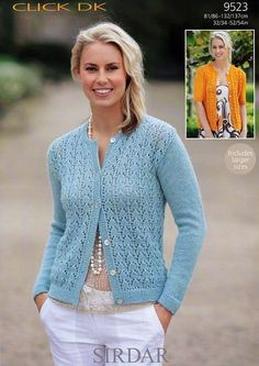 Cardigans in Sirdar Click DK - 9523. Discover more Patterns by Sirdar at LoveKnitting. The world's largest range of knitting supplies - we stock patterns, yarn, needles and books from all of your favorite brands.