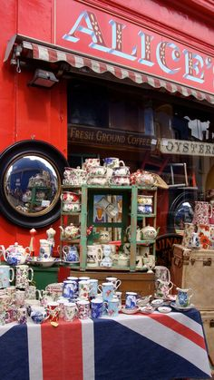 Portobello Market ~ West London, England... I want to shop there so bad!