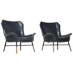 Rare Pair of BBPR 'Giulietta' Lounge Chairs for Arflex ca.1968