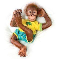 """Ollie 19"""" Collectible Orangutan Child Doll"""