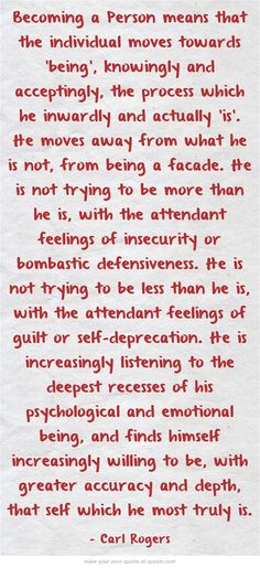 Carl Rogers, Person Centred/ Humanistic Counselling