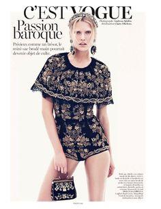 C'est Vogue: Toni Garrn by Andreas Sjodin for Vogue Paris September 2012
