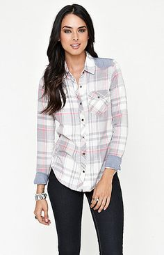small- I want cute flannels I can wear with leggings