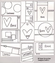 Paper Smooches: Designer Drafts... tag sketches