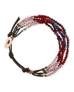 Beaded+Cord+Bracelet,+Burgundy/Pink+by+Nakamol+at+Neiman+Marcus+Last+Call.