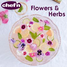 Find out how to utilize edible flowers and garden-fresh herbs in imaginative ways on this board.