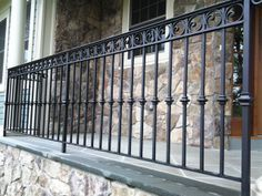 71 Elegant Collection Of Cast Iron Railings Wrought Iron Porch Railings, Rod Iron Railing, Cast Iron Railings, Front Porch Railings, Patio Railing, Wrought Iron Fences, Porch Handrails, Staircase Outdoor, Deck Stairs