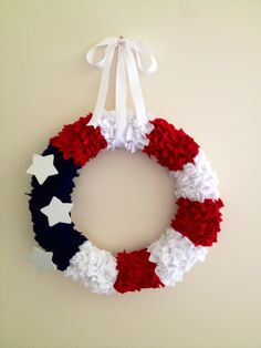 4th of July handmade felt wreath