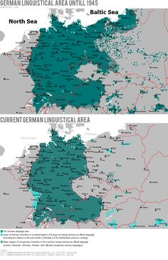 German Linguistic Area until 1945 vs. Now