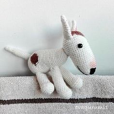 Bullterrier kutya - Evagurumi1 Amigurumi horgolt játék Bull Terrier, Pet Toys, Snowman, Creations, Disney Characters, Blog, Diy, Animals, Crochet Animals