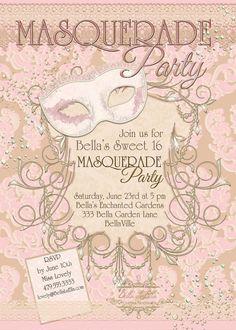 Masquerade Party Invitation Masquerade Invitation Mardi Gras