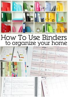 How you can use a binder to organize your home entirely. This is a wonderful example of home organization!