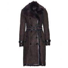 Veloursleder-Mantel Mit Shearling-Futter | Burberry London + mytheresa