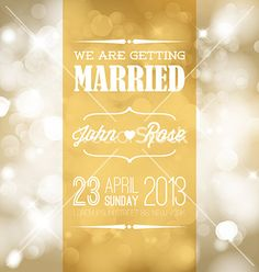 Wedding invitation vector by orson on VectorStock®