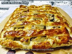 Chicken and Mushroom Pie Quiches, Chicken And Mushroom Pie, Portuguese Recipes, Portuguese Food, Lasagna, Spicy, Stuffed Mushrooms, Food And Drink, Favorite Recipes