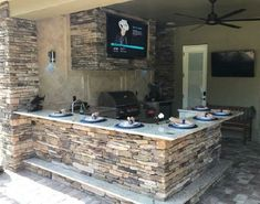 14 Best Outdoor Kitchen and Grill Ideas for Summer Backyard Barbeque Outdoor Kitchen Patio, Outdoor Kitchen Design, Outdoor Spaces, Outdoor Living, Outdoor Kitchens, Outdoor Cooking, Kitchen Decor, Back Patio Kitchen Ideas, Out Door Kitchen Ideas