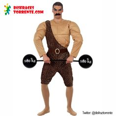 Disfraz de Hombre Forzudo de Circo. Divertido y original disfraz para fiestas temáticas, carnaval y festivales.