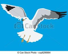 Vector - flying seagull - stock illustration, royalty free illustrations, stock clip art icon, stock clipart icons, logo, line art, EPS picture, pictures, graphic, graphics, drawing, drawings, vector image, artwork, EPS vector art