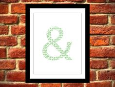 Ampersand Art Print, Instant Download, Printable Art, Wall Decor on Etsy, $8.00