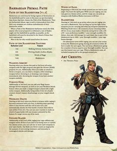 Dungeons And Dragons Classes, Dungeons And Dragons Characters, Dungeons And Dragons Homebrew, D D Characters, Barbarian Dnd, Dnd Races, Dnd Classes, Dungeon Master's Guide, Dnd 5e Homebrew