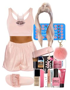 """Pink "" by a-kisses ❤ liked on Polyvore featuring Anine Bing, adidas and MICHAEL Michael Kors"