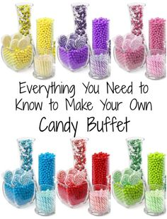 Make Your Own Candy Buffet! We recently hosted a super fun Halloween Party for 200 of our closest friends!  The decorations came out amazing, the food was fantastic and the candy buffet was a how stopper!...