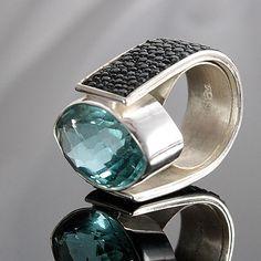 Olissima Gallery - Malina Skulska #jewelry #jewellery #silver #amethyst #leather #olissima