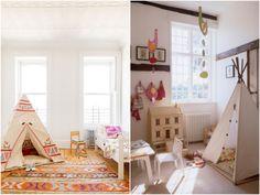 Vamos brincar de Índio: Cabaninha para a criançada | http://marionstclaire.com/cabaninha-indio-criancas-quarto Kids Teepee Tipi Cabana