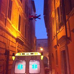 """""""Ansa: Spideruccio ieri sera è intervenuto per emergenza ad Ancona. #igersitalia_swspidermantour #igeritalia #igersmarche #igersancona #spiderman #ancona #emergency #crocegialla"""" #amazingspiderman"""