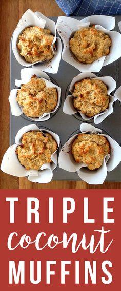 Triple Coconut Muffin Recipe (Grain/Dairy-Free) | Fresh Planet Flavor