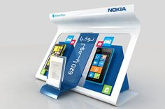 Nokia stands options on behance tech retail store. Design Display, Pos Design, Pos Display, Counter Display, Display Shelves, Retail Design, Product Display, Display Ideas, Standing Signage