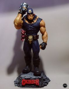 Estatua: El Cazador de aventuras Comic Books Art, Comic Art, Custom Action Figures, Incredible Hulk, Manga Characters, Cultura Pop, Vinyl Art, Retro, The Incredibles