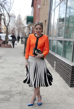 Sonia from Runway Hippie in Ted Baker's HAZELLE jacket and POPII skirt