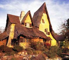 The Spadena House- aka The Witch's House, Beverly Hills, Ca    This is an excellent example of Storybook Style, as well as its most literal link to the film industry. The house was designed by Harry Oliver in 1921 and constructed in Culver City to provide offices and dressing rooms for a movie studio.