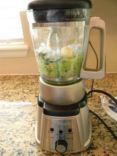 The Green Smoothie Recipe:  big handful of spinach + 1 banana + 1 cup vanilla almond milk + 1 scoop vanilla protein powder