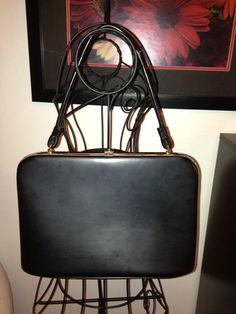 50s Vintage Black and Gold Handbag by LittleMisVintage on Etsy, $35.00
