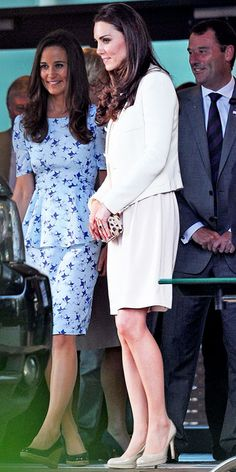 JULY 8, 2012 Duchess Catherine reworked some old favorites at Wimbledon! She wore an ivory Joseph shift, which she debuted on July 3rd, 2011, with the Joseph topper she worked at last year's Epsom Derby.