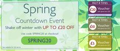 Past Times Spring countdown event – up to £20 off – use code SPRING20 –  http://www.pasttimes.com