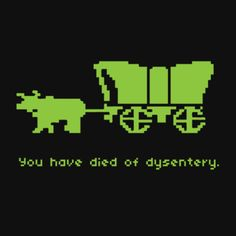 oregon trail. I hated when that happened !!