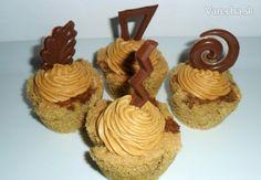 Kávové koláčiky s karamelovým krémom (fotorecept) - Recept