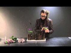 Mooie bloemcreatie door Nelleke Bontje voor Groei en Bloei - YouTube