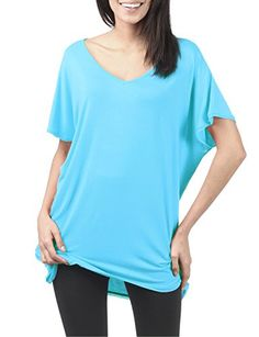 TWINTH Tunic Top Plus Size Colorful Loose Fit Short Sleeve SKYBLUE 3XL * Details can be found by clicking on the image.Note:It is affiliate link to Amazon.